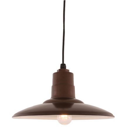 """18"""" shade in 145 Oil Rubbed Bronze finish with CB8 mounting"""