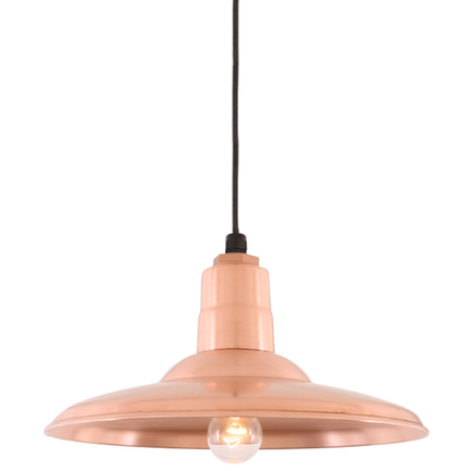 """18"""" shade in 48 raw copper finish with CB8 mounting"""