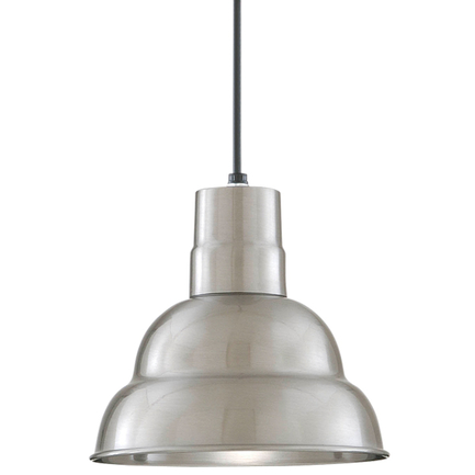 """10"""" shade in 137 Satin Aluminum finish with CB8 mounting"""