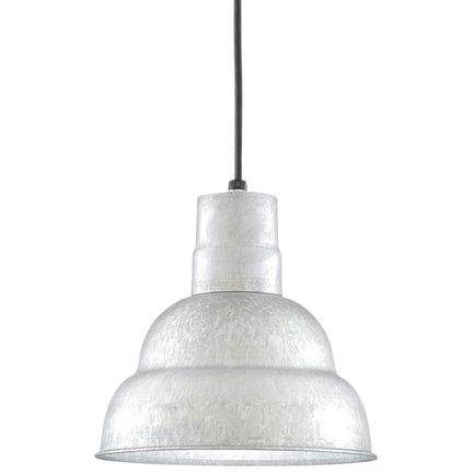 """10"""" shade in 96 Galvanized finish with CB8 mounting"""