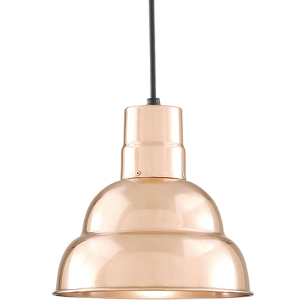 """10"""" shade in 44 polished Copper finish with CB8 mounting"""