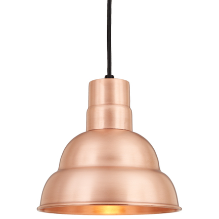 """10"""" shade in 48 Raw Copper finish with CB8 mounting"""