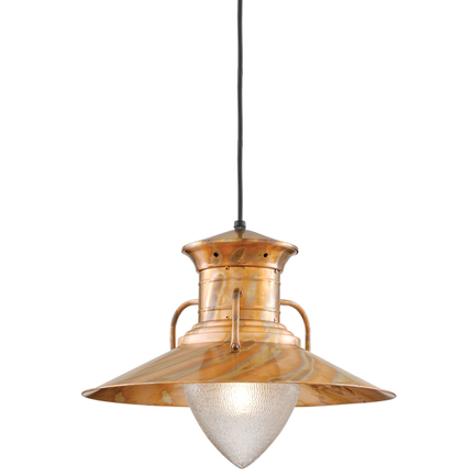 """20"""" shade in 15 burnt copper finish with CB8 mounting"""