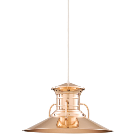 """20"""" shade in 44 polished copper finish with CB8 mounting"""