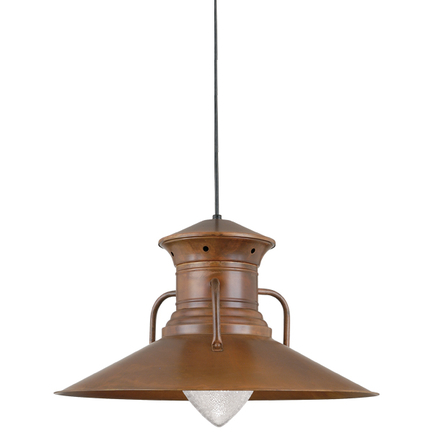 """24"""" shade in 77 rosewood  finish with CB8 mounting and ARN glass"""