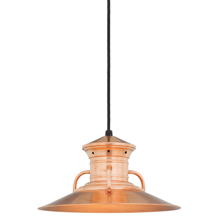 """14"""" shade in 48 Raw Copper finish with CB8 mounting"""