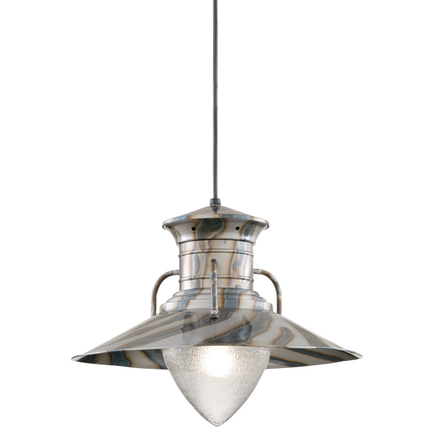 """20"""" shade in 16 burnt steel finish with CB8 mounting and ARN glass"""