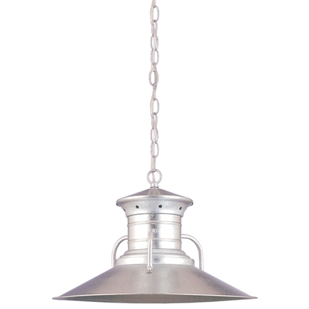 """20"""" shade in 16 burnt steel finish with chain mounting"""