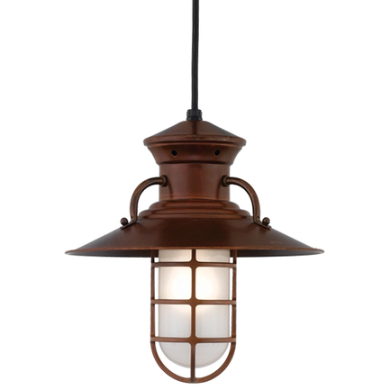 """10"""" shade with CGU accessory with frost glass in 77 Rosewood finish"""
