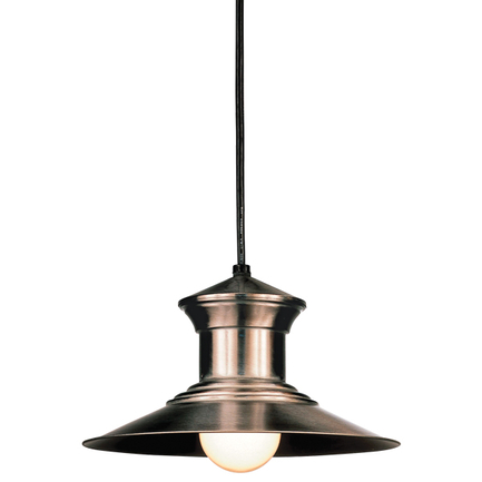 """10"""" shade in 11 satin steel finish with CB8 mounting no arms"""
