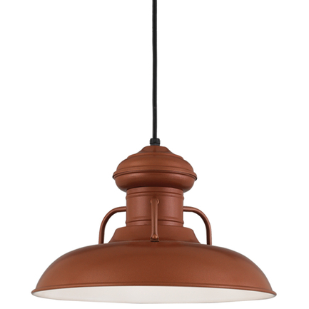 """16"""" shade in 113 Painted Copper finish with CB8 mounting"""