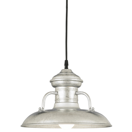 """12"""" shade in 96 Galvanized finish with CB8 mounting"""