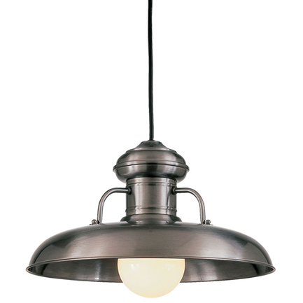 """18"""" RLM shade in 11 Satin Steel finish with CB8 mounting"""