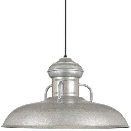 """24"""" RLM shade in 96 Galvanized finish with CB8 mounting"""