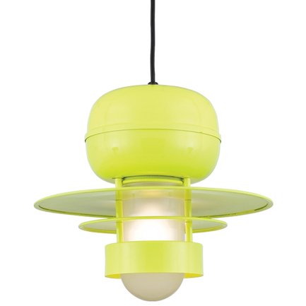 """16"""" shade in 92 Yellow finish with frost glass and CB8 mounting"""