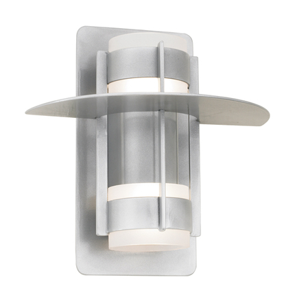 """12.5"""" shade with frost cylinder in 101 brushed aluminum"""