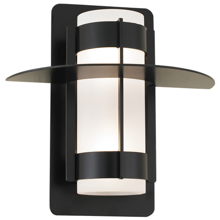 """5.5"""" fixture with frost cylinder in 91 black finish"""