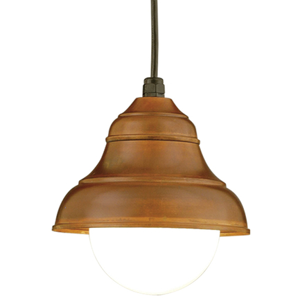 """9"""" shade in 77 rosewood, 8 foot black cord with 91 black canopy, 6OP accessory"""