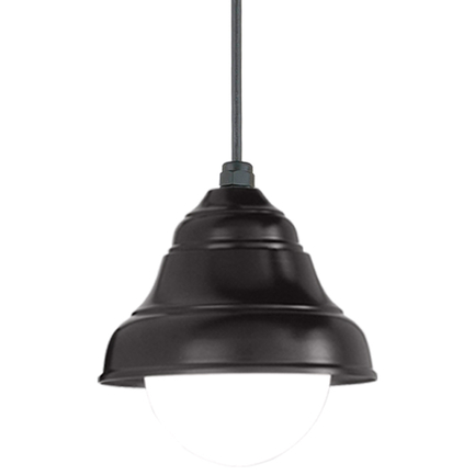 """9"""" shade in 91 black, 8 foot black cord with 91 black canopy, 6OP accessory"""