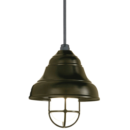 """9"""" shade and CGU with frost glass in 119 bronze, CB8 with 91 black canopy, 6OP accessory"""