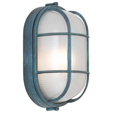 """7.5"""" fixture with frost glass in 105 brushed patina"""