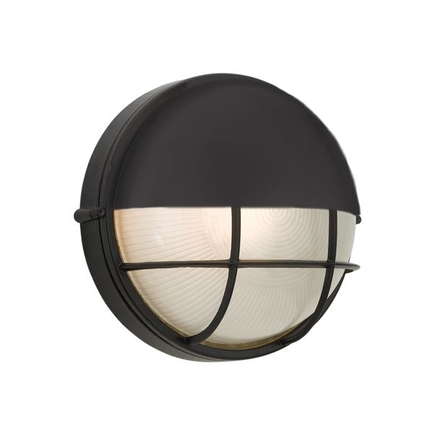 7.5 fixture with frosted glass in 91 black