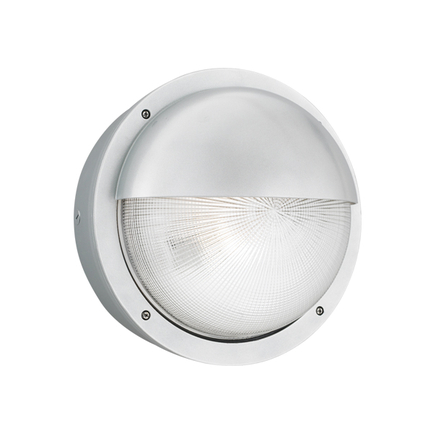 """15"""" fixture with ribbed glass in 118 brushed aluminum"""