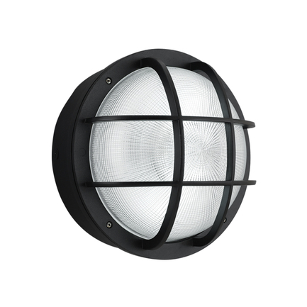 """15"""" fixture with ribbed glass in 91 black"""