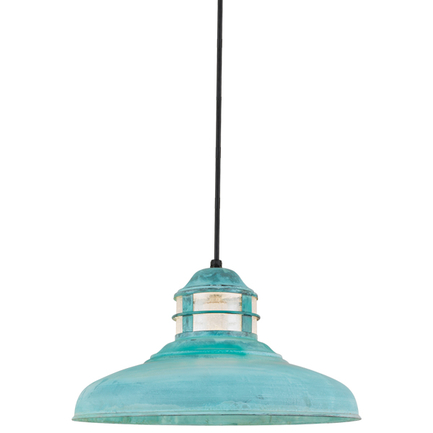 """17"""" shade with opal lens in 33 patina finish, 8 foot black cord with 91 black canopy"""