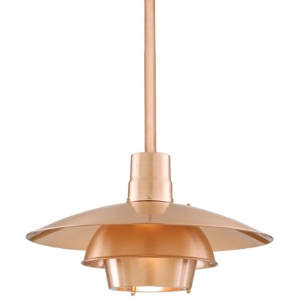 """18"""" shade with ST3 in 24 satin copper"""