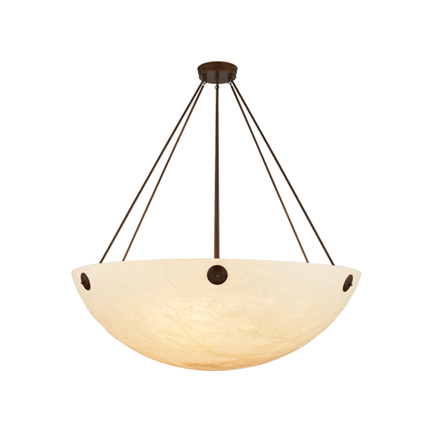 """60"""" fixture with fixture arms, canopy and chain in 77 rosewood finish"""