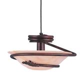 Short Cord-Hung Ceiling Light