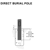 Direct Burial Pole
