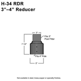 """3"""" to 4"""" Pole Reducer/Fitter"""