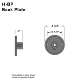 Wall Mount Back Plate