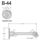 B-44 Straight Arm