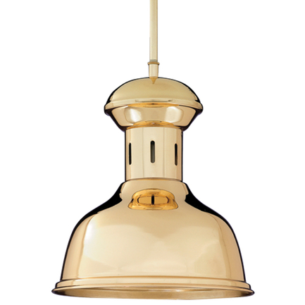 """10"""" shade with 16"""" ST 1/8"""" and STC-1 canopy in 01 Polished Brass finish"""