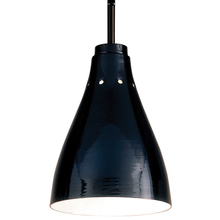 """6.25"""" shade with 1/8"""" stem in 91 Black finish"""
