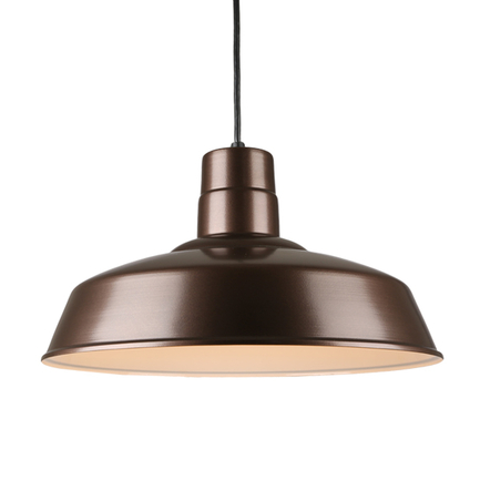 """18"""" quick ship shade in 145 oil rub bronze finish and 8ft black cord"""