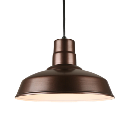 """14"""" quick ship classic warehouse shade in 145 oil rub bronze finish and 8ft black cord"""