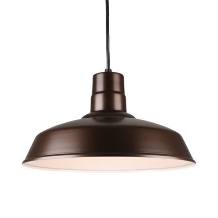 """18"""" quick ship classic warehouse shade in145 oil rub bronze finish and 8ft black cord"""