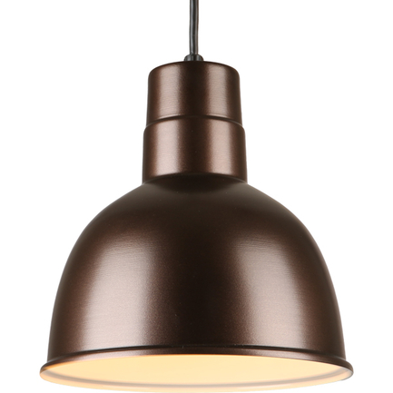 """10"""" quick ship classic deep bowl pendant in oil rub bronze finish with 8ft black cord"""