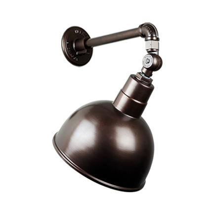 """10"""" quick ship classic deep bowl shade in 145 oil rub bronze finish and QSNB-44 gooseneck arm and sw"""
