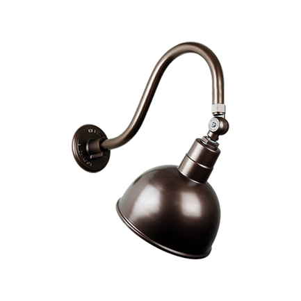 """10"""" quick ship classic deep bowl in 145 oil rub bronze finish and QSNB-42 gooseneck arm and swivel k"""