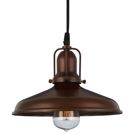 """10"""" shade in 77 rosewood finish , with 77 rosewood cap and cb7 cord mounting"""