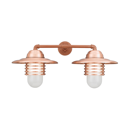 """13"""" shades with frost glass in 24 satin copper"""