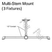 Multi-Stem Mount for 3 Fixtures