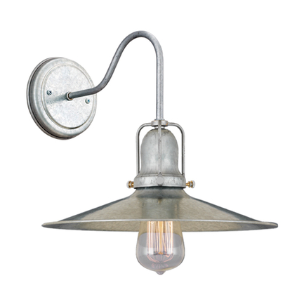 """10"""" shade with M-13 arm, canopy and cap in 96 galvanized"""