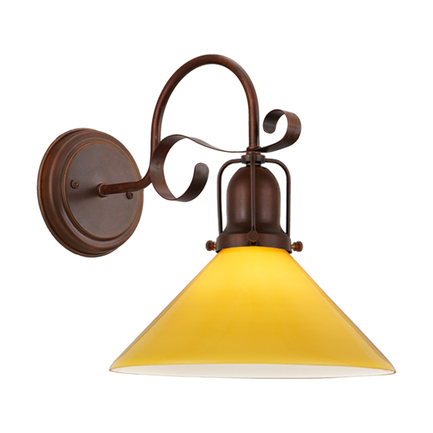 """10"""" amber shade with cap, M-14 arm and canopy in 77 rosewood"""